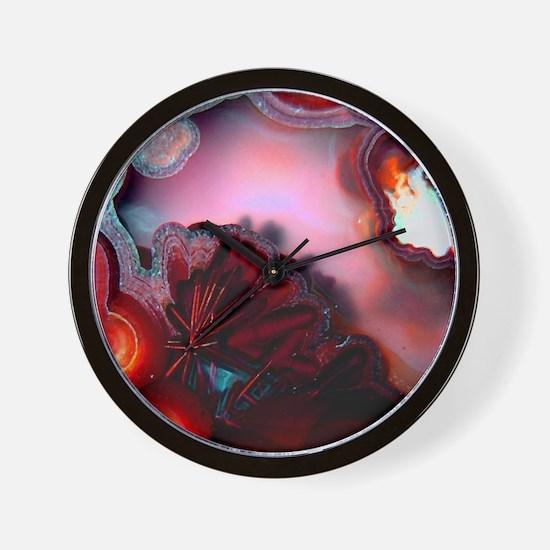 Fire-Agate-Quartz-iPad 2 Wall Clock