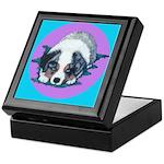 Australian Shepherd Puppy Keepsake Box