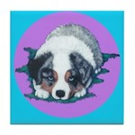 Australian Shepherd Puppy Tile Coaster