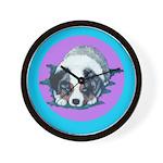 Australian Shepherd Puppy Wall Clock
