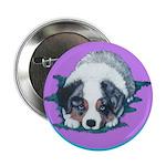 Australian Shepherd Puppy Button