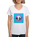 Australian Shepherd Puppy Women's V-Neck T-Shirt
