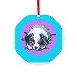 Australian Shepherd Puppy Ornament (Round)