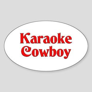 Karaoke Cowboy Oval Sticker