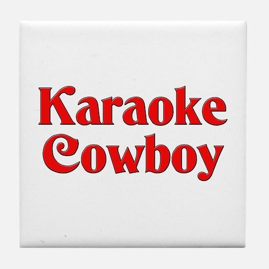 Karaoke Cowboy Tile Coaster