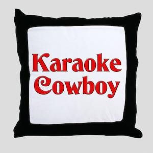 Karaoke Cowboy Throw Pillow