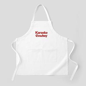 Karaoke Cowboy BBQ Apron