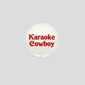 Karaoke Cowboy Mini Button