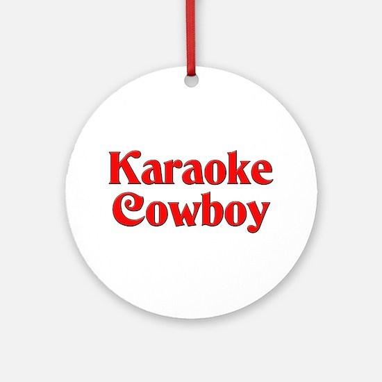 Karaoke Cowboy Ornament (Round)