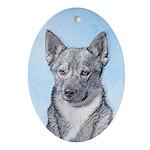 Swedish Vallhund Oval Ornament
