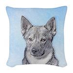 Swedish Vallhund Woven Throw Pillow