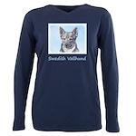 Swedish Vallhund Plus Size Long Sleeve Tee