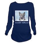 Swedish Vallhund Long Sleeve Maternity T-Shirt