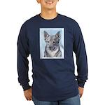 Swedish Vallhund Long Sleeve Dark T-Shirt
