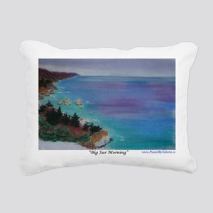 Big Sur Morning a shirt Rectangular Canvas Pillow