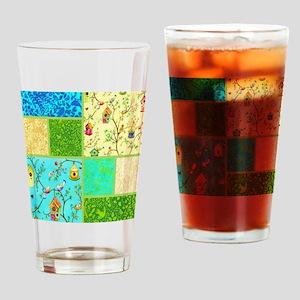 tweet collage Drinking Glass
