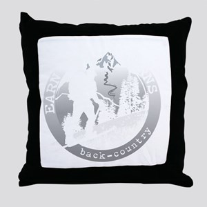 earn your turns white Throw Pillow