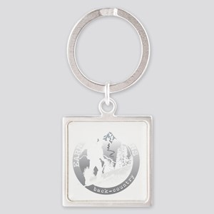 earn your turns white Square Keychain