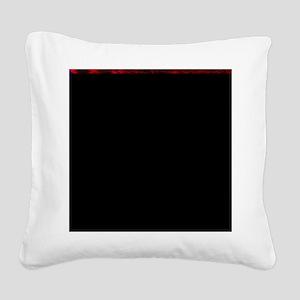 Dark Starry Night Square Canvas Pillow