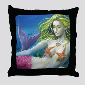 merm worked on landscape Throw Pillow