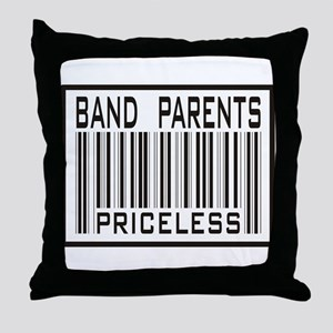 Band Parents Priceless Marching Throw Pillow