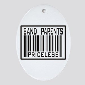 Band Parents Priceless Marching Oval Ornament