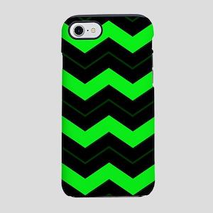 Green Chevron iPhone 7 Tough Case