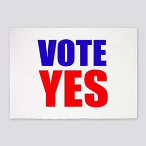 Vote Yes 5'x7'Area Rug