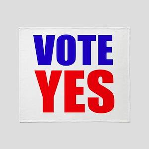 Vote Yes Throw Blanket