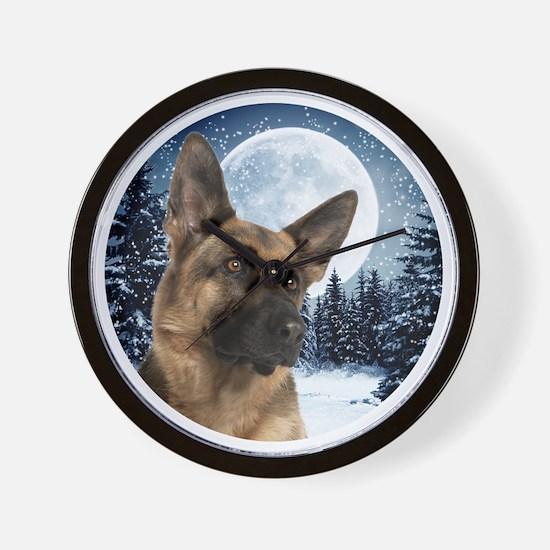 German Shepherd Wall Clock