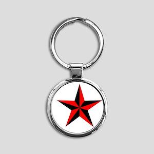 Star Round Keychain