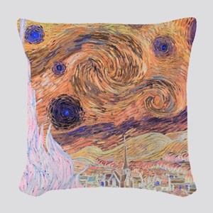 Starry Day (Starry Night - Inv Woven Throw Pillow