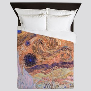 Starry Day (Starry Night - Inverted Co Queen Duvet