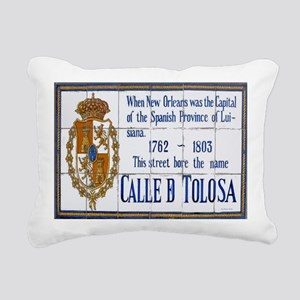 Toulouse St Tiles 1014 Rectangular Canvas Pillow