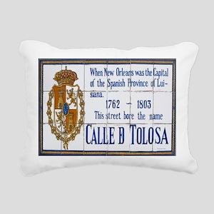 Toulouse St Tiles 1014 Rectangular Canvas Pillow