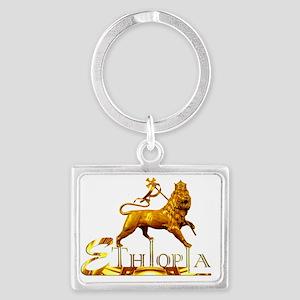 moa anbessa lion Landscape Keychain