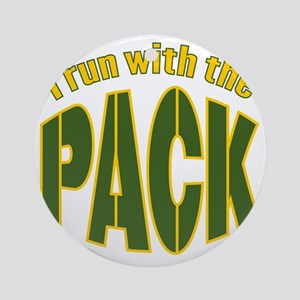 irun-with-the-pack2 Round Ornament