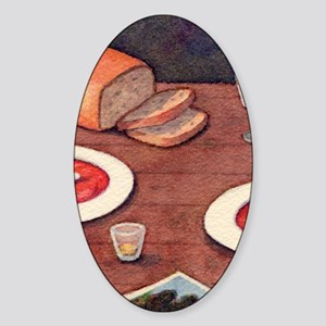 borscht@4-25x5-5 Sticker (Oval)