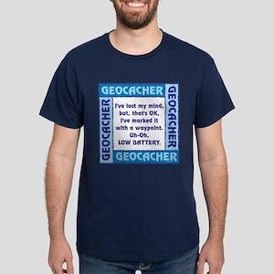 Blue Geocacher Lost Mind Dark T-Shirt