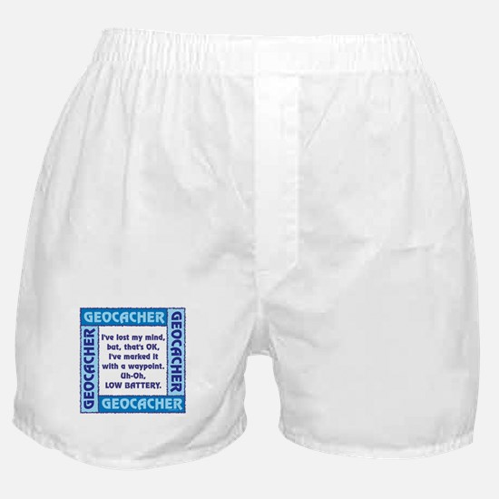 Blue Geocacher Lost Mind Boxer Shorts