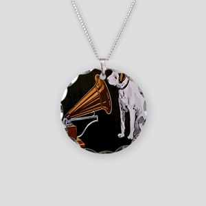 His Masters Voice Necklace Circle Charm