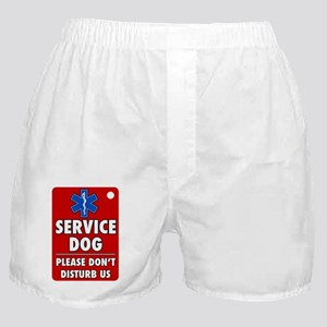 Service Dog Please Dont Disturb Us Boxer Shorts
