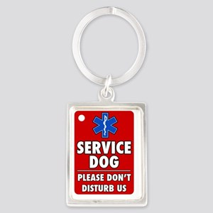 Service Dog Please Dont Disturb  Portrait Keychain