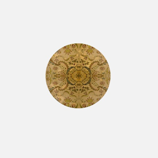 damask vintage Mini Button