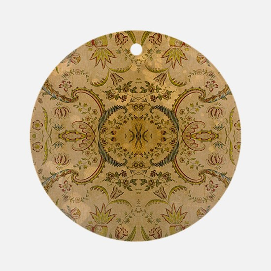 damask vintage Round Ornament