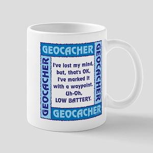 Blue Geocacher Lost Mind Mug