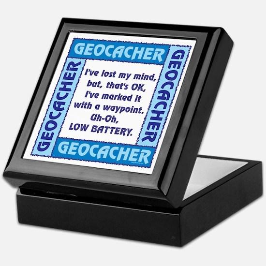 Blue Geocacher Lost Mind Keepsake Box