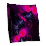 Flower Fairy Abstract Rose Burlap Throw Pillow