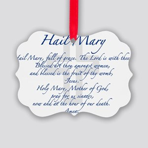 HailMary Picture Ornament