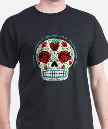 Day of the Dead Skull-Roses T-Shirt